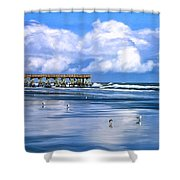Beach at Isle of Palms Shower Curtain by Dominic Piperata