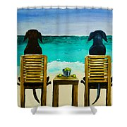 Beach Bums Shower Curtain by Roger Wedegis