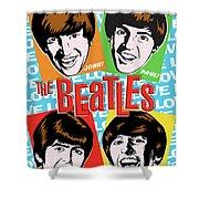 Beatles Pop Art Shower Curtain by Jim Zahniser