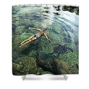 Beautiful Man and Turtle Shower Curtain by Brandon Tabiolo - Printscapes