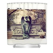 Bellefontaine Angel Polaroid Transfer Shower Curtain by Jane Linders