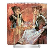 Below Stairs  Shower Curtain by Felicity House