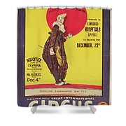 Bertram Mills Circus Poster Shower Curtain by Dudley Hardy