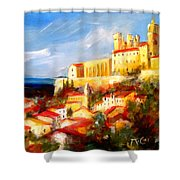 Beziers Shower Curtain by K McCoy