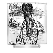 BICYCLE, c1870s Shower Curtain by Granger