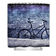 Bicycle Shower Curtain by Evelina Kremsdorf