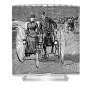 Bicycling, 1886 Shower Curtain by Granger