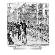 BICYCLIST MEETING, 1881 Shower Curtain by Granger