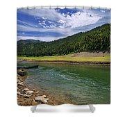 Big Elk Creek Shower Curtain by Chad Dutson