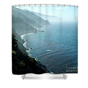Big Sur Majesty Shower Curtain by Charlene Mitchell