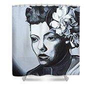 Billie Holiday Shower Curtain by Kaaria Mucherera