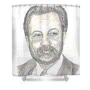 Billy Joel Portrait Shower Curtain by Carol Wisniewski