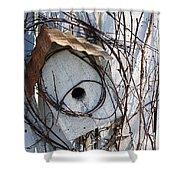 Birdhouse Brambles Shower Curtain by Lauri Novak