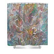 Birds In A Bush Shower Curtain by Ben Kiger