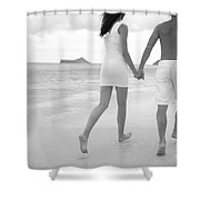 Black and white couple Shower Curtain by Brandon Tabiolo - Printscapes