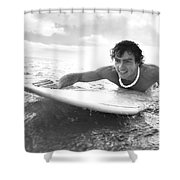 Black And White Sufer Shower Curtain by Brandon Tabiolo - Printscapes