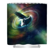 Black Hole Shower Curtain by Mary Hood