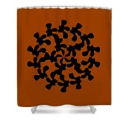 Black Ink Shape Shower Curtain by Frank Tschakert