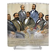 Black Senators, 1872 Shower Curtain by Granger