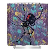 Black Widow Shower Curtain by Michael Creese