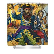 Blackbeard Shower Curtain by Richard Hook
