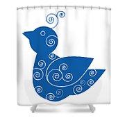 Blue Bird Shower Curtain by Frank Tschakert
