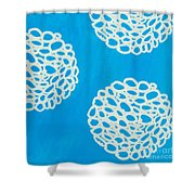 Blue Garden Bloom Shower Curtain by Linda Woods
