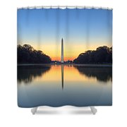 Blue Hour At The Mall Shower Curtain by Edward Kreis