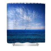 Blue Mediterranean Shower Curtain by Stelios Kleanthous