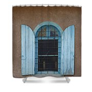 Blue Shutters Shower Curtain by Jerry McElroy