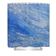 Blue Shower Curtain by Teresa Wegrzyn