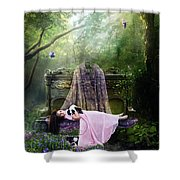 Bluebell Dreams Shower Curtain by Mary Hood