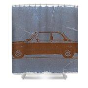 Bmw 2002 Orange Shower Curtain by Naxart Studio