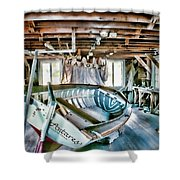 Boathouse Shower Curtain by Heather Applegate