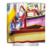 Boats In Bali Shower Curtain by Dana Edmunds - Printscapes