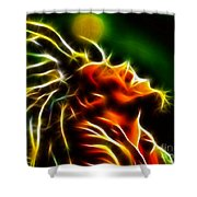 Bob Marley Shower Curtain by Pamela Johnson