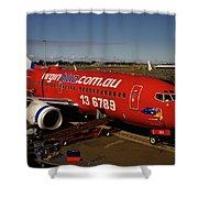Boeing 737-7q8 Shower Curtain by Tim Beach