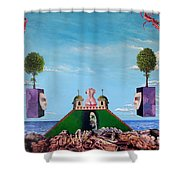 Bogomils Monastic Retreat Shower Curtain by Otto Rapp