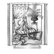 Bombay Monkey I Shower Curtain by Adam Zebediah Joseph