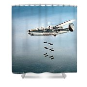 Bombs Away Shower Curtain by Marc Stewart