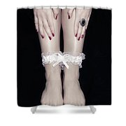 Bonded Legs Shower Curtain by Joana Kruse