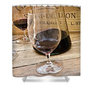 Bordeaux Wine Tasting Shower Curtain by Frank Tschakert