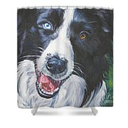 Border Collie Shower Curtain by Lee Ann Shepard
