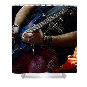 Boss Guitar Player Shower Curtain by Bob Christopher