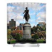 Boston Common Shower Curtain by DJ Florek