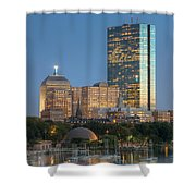 Boston Night Skyline Iv Shower Curtain by Clarence Holmes