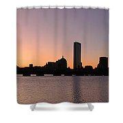 Boston Skyline Shower Curtain by Juergen Roth