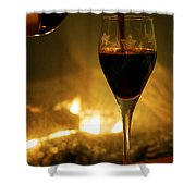 Bottled Poetry Shower Curtain by Mitch Cat