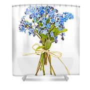 Bouquet Of Forget-me-nots Shower Curtain by Elena Elisseeva