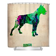 Boxer Poster Shower Curtain by Naxart Studio